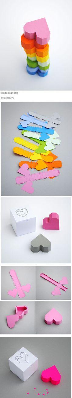 3 Boyutlu kartondan veya kağıttan kalp yapma. Kutu gibi duran üç boyutlu,3 d kalp yapmak için kartonunuzu yada fon kağıdınızı resimde gösterilen şekilde dikiniz. Kenarlardan içe kıvrılan yerlerden …