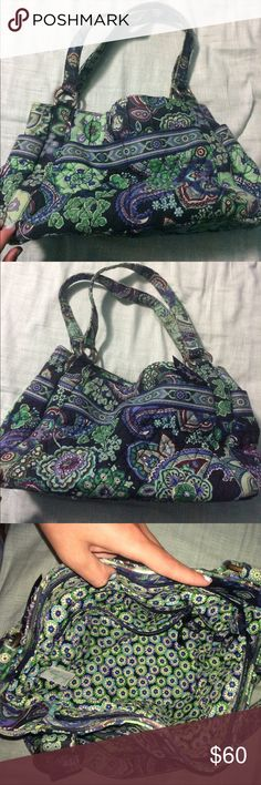 Authentic Vera Bradley purse Authentic Vera Bradley purse in Blue Rhapsody. Great condition. Only flaw is in straps and corners of purse as shown. 5 pockets on the outside and 4 on the inside. Make me an offer Vera Bradley Bags Shoulder Bags