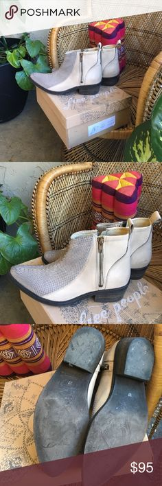 Flying Ranch Ankle Boot size: 37 Free People Boots, hand stitched snakeskin. Worn only twice, still have the box! Free People Shoes Ankle Boots & Booties