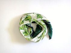 Vintage Scarf Green Eleanor Paine Canada Women by CakeNumber9, €10.50