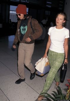 We're pretty sure we own Johnny Depp's beanie and Moss' pants look like they could seamlessly fit into Tory Burch's most recent spring collection.