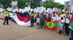 Washington DC Oromo Community demonstrate in front the White House and States Department!