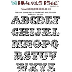 Beading Projects : Shrink Plastic Templates - Circus Alphabet Theme - Free Download