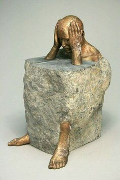 Failed Stone Meld Story castle dungeon Tenebris sculpture by Bryon Draper Contemporary Sculpture, Contemporary Art, Instalation Art, Stone Carving, Oeuvre D'art, Sculpting, Clay, Angles, Sculpture Ideas