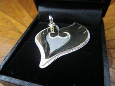 Heart Gold Shiny HoHo Wings Sterling Silver by SilverthinkJewelry, $34.99
