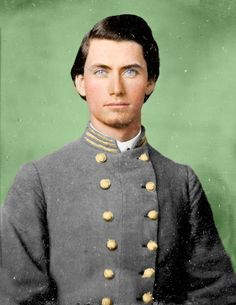 Captain Jesse Barnes of the 4th NC. Wow he was really good looking!!!! Wowza!
