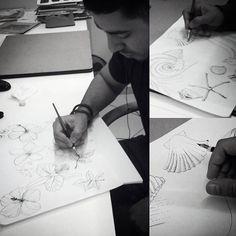 Workando. #handmade #ilustração #designtextil #bicodepena