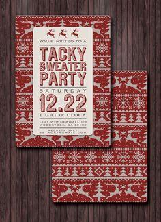 Printable DIY  Tacky Sweater Party by YellowDoorCreative, $27.00
