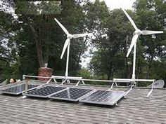 both solar and wind powered home