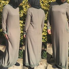 "7 Likes, 1 Comments - Allure.Abayas (@allure_abayas) on Instagram: ""Everyday sport abaya in khaki colour comes with pockets and is fitted at the wrists available in…"""
