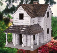 Handmade Custom Wooden Rustic Country Home Birdhouse - $120.00 - Handmade…