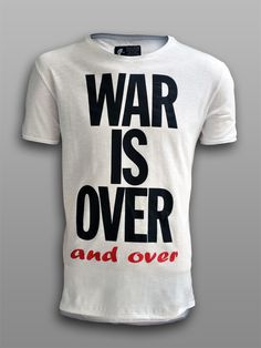 War is Over (and over) - #πλAy #play #play_shirts #tshirts #tees #war #over #john #yoko #lennon #antiwar #protest #men #clothing #board #street #art #wear #print #peace #love