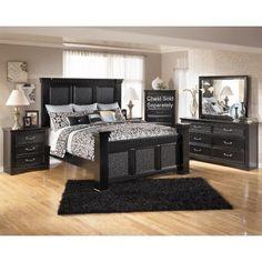 cheap black bedroom sets. Ashley 6 Piece King Bedroom Set black bedroom furniture with gray walls  Black Furniture