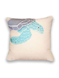 Ombre Sea Turtle Pillow by THRO by Marlo Lorenz on Gilt Home