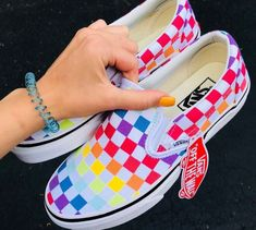 Rainbow checkered vans rainbow vans, types of shoes, van shoes, shoes heels, Vans Sneakers, Sneakers Fashion, Converse, Vans Shoes Outfit, Shoes Heels, Adidas Shoes, Fashion Shoes, Fashion Tips, Air Max Thea Beige