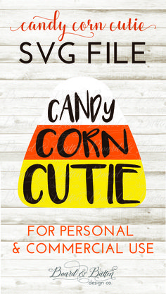 This Candy Corn Cutie SVG File is PERFECT for Halloween t-shirts or trick-or-treat bags. Use Glitter HTV in your Cricut or Silhouette cutting machine for an extra glam effect!