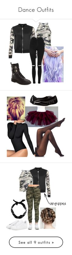 """""""Dance Outfits"""" by beautiful-tragic-love on Polyvore featuring WearAll, New Look, Giuseppe Zanotti, Topshop, SPANX, Wolford, Cole Haan, adidas, Porselli and ASOS"""