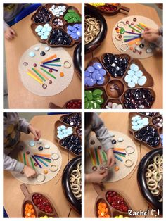 Pattern making with loose parts. This activity is one of my favourites.