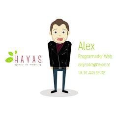 Alex - Programador y Diseñador Web #equipo #hayas #madrid