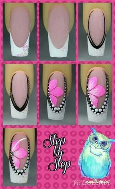 111 Nail Art Tutorials – Learn How To Do The Simple Ones To Intricate Details - Pinokyo Sexy Nails, Fancy Nails, Toe Nails, Pink Nails, Pretty Nails, Beautiful Nail Designs, Beautiful Nail Art, Nagel Hacks, Nagel Gel