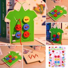 Kids Montessori Educational Toys Children Beads Lacing Board Wooden Toys Festival Birthday Gifts Sew On Buttons Toys #>=#>=#>=#>=#> Click on the pin to check out discount price, color, size, shipping, etc. Save and like it!
