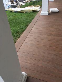 Azek Porch tongue & groove flooring to replace fir flooring.