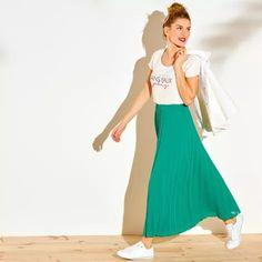 Dlhá plisovaná sukňa | blancheporte.sk #blancheporte #blancheporteSK #blancheporte_sk #moda #fashion #exkluzivni #exclusive Vogue, Ballet Skirt, Lingerie, Skirts, Baskets, Style, Products, Fashion, Pleated Skirts