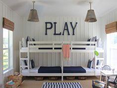 Beachy IKEA Bunkroom | OK Modern Home