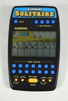 SOLITAIRE ELECTRONIC HAND HELD GAME RADICA KLONDIKE