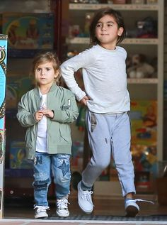 Kourtney Kardashian takes her kids Mason and Penelope to the park and to lunch on January 4, 2016