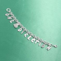 One Direction Crystal Charm Bracelet:Amazon:Jewelr ($24.99)