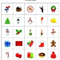 Kids always enjoy playing bingo, so if you are having a den or pack Christmas party, use these Christmas picture bingo cards.    The set includes 10 picture bingo cards with Christmas and winter themed images. There is also a set of call cards.  Use small pieces of candy as card markers and then the Scouts can take them home as a party favor.