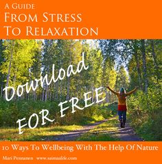 """Free E-guide """"From Stress To Relaxation With The Help Of Nature""""."""