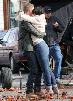 Ginnifer Goodwin - Josh Dallas And Ginnifer Goodwin Get Romantic On Set
