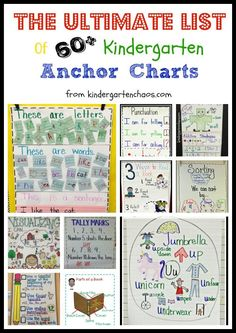 Must-Make Kindergarten Anchor Charts (Kindergarten Chaos)