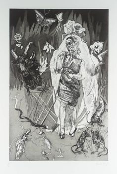 Paula Rego 'Straw Burning', 1996 © Paula Rego This artist has used a variation of techniques to make this picture such as: hatching, cross hatching and rubbing away