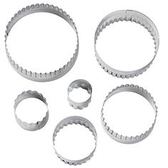 Wilton 4172581 6Piece Nesting Fondant Double Sided Cut Out Cutters Round -- You can get more details by clicking on the image.