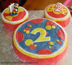 Mickey Mouse Toodles Cake  http://wonderfulchaoticlife.blogspot.ca