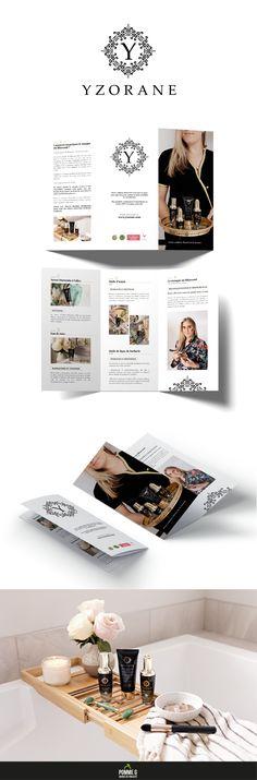 Création d'un dépliant pour Yzorane avec la collaboration de Wybou la photographe.