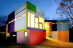 Home decoration, Bioscleave House With Colorful Exterior House Painting: home exterior colors design ideas Exterior Color Schemes, Exterior Paint Colors For House, Paint Colors For Home, Home Modern, Modern House Design, Modern Houses, Modern Exterior, Exterior Design, Facade Design