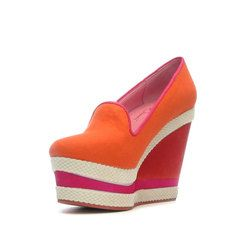 Abbe Wedge Coral half off everything sale today on Fab.