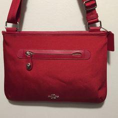 Coach Crossbody True red Coach crossbody Coach Bags Crossbody Bags