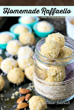 Homemade Raffaello -Coconut almond candies. **MUST TRY!!** Jellibean Journals for SpoonfulofFlavor.com