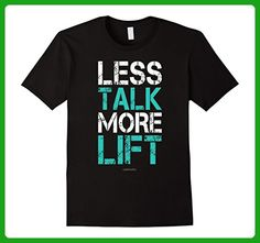 Mens Less Talk More Lift Weightlifting T-Shirt - Gym Shirts Medium Black - Workout shirts (*Amazon Partner-Link)