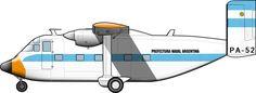 –  Un Short Skyvan de la Prefectura Naval a finales de los 1970s.  Hay solo cinco kilómetros en línea recta entre la Escuela de Mecánica de la Armada (ESMA) y el Aeroparque Jorge …