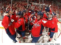 Washington Capitals hockey game at Madison Square Gardens