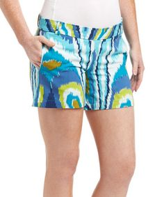 This Blue Ikat Shorts is perfect! #zulilyfinds