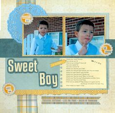 Layout: Grandson Dominic Sweet Boy