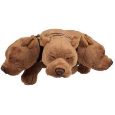 """Hagrid's """"Fluffy"""" 3 Headed Dog Plush - Button That Activates Fluffy's Snoring Sound Effects (There Must Be Music Playing Somewhere!) - http://geekarmory.com/harry-potter-hagrids-fluffy-3-headed-dog-plush/"""