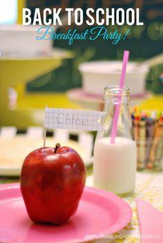 Rambling Renovators | Back To School breakfast party on the cheap